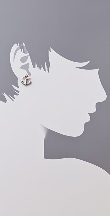 Elizabeth and James Anchor Stud Earrings