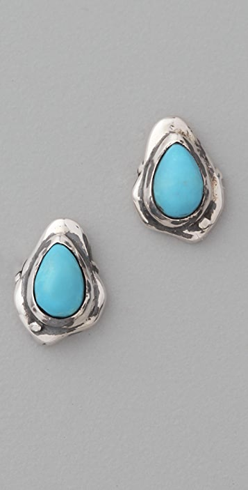 Elizabeth and James Turquoise Howlite Earrings