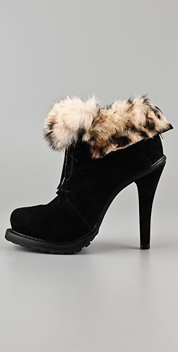 Elizabeth and James Base Suede Platform Booties