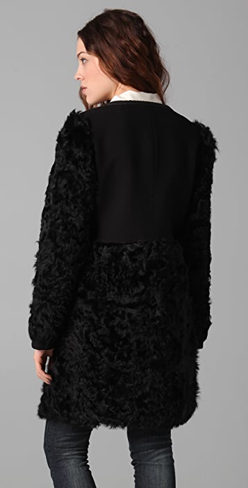 Elizabeth and James Tilda Shearling Combo Coat