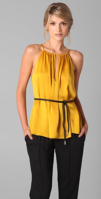 Elizabeth and James Heidi Halter Top with Belt