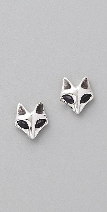 Elizabeth and James Fox Black Sapphire Stud Earrings
