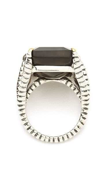 Elizabeth and James Bird Claw Ring with Onyx