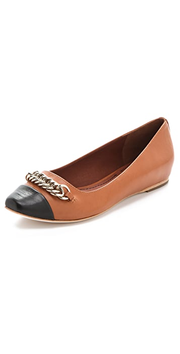 Elizabeth and James Gwen Leather Flats