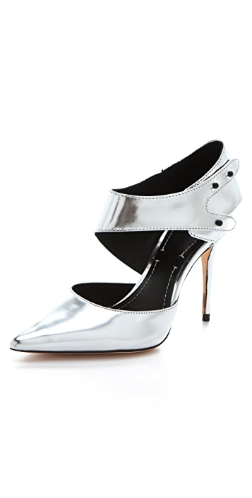 Elizabeth and James Sand Metallic Pumps