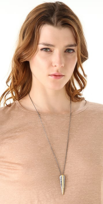 Elizabeth and James Feather Necklace