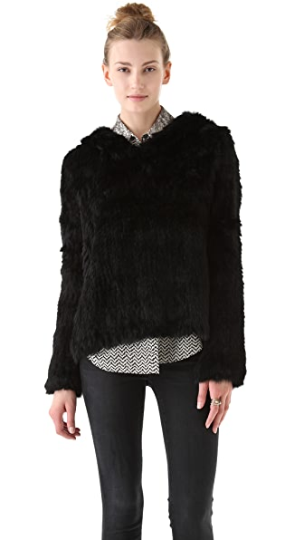 Elizabeth and James Monica Fur Hoodie