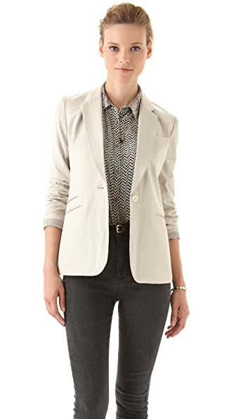 Elizabeth and James Leather Trimmed Rex Blazer