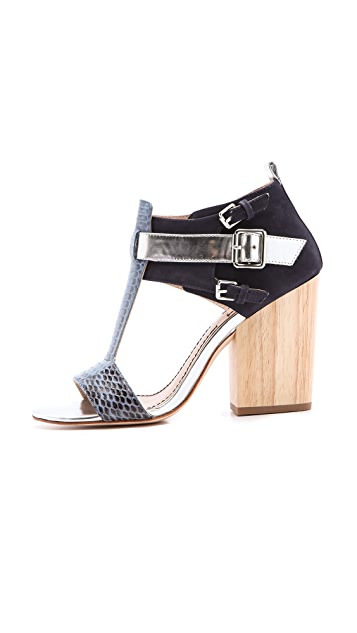 Elizabeth and James Carri Chunky Heel Sandals
