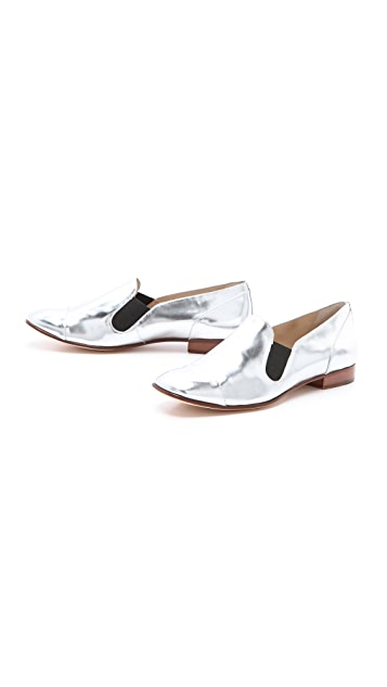 Elizabeth and James Court Metallic Loafers
