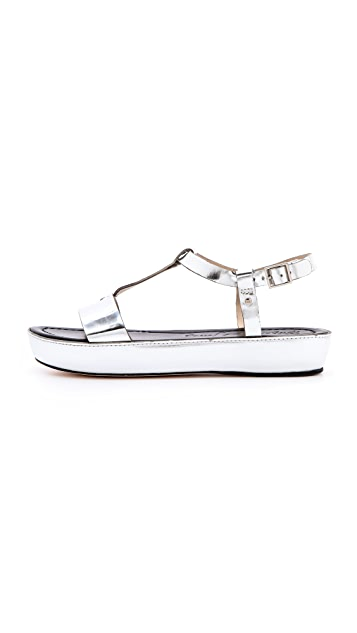 Elizabeth and James Metallic Cree Sandals