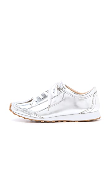 Elizabeth and James Evva Metallic Sneakers