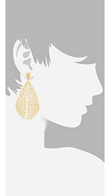 Elizabeth and James White Sapphire Serpentine Earrings