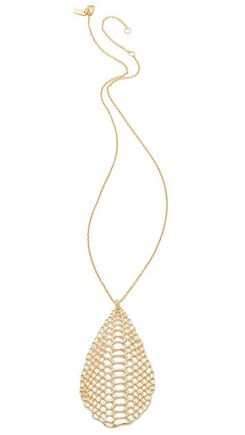 Elizabeth and James White Sapphire Serpentine Pendant Necklace