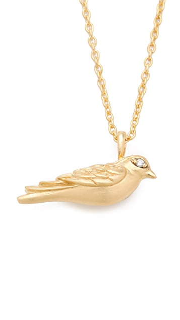 Elizabeth and James Diamond Meadowlark Bird Necklace
