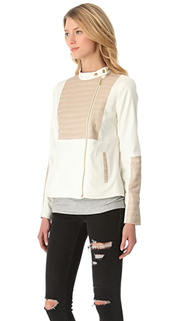 Elizabeth and James Vincent Croc Trim Jacket