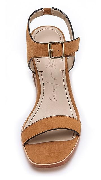 Elizabeth and James Ryann Low Heel Sandals