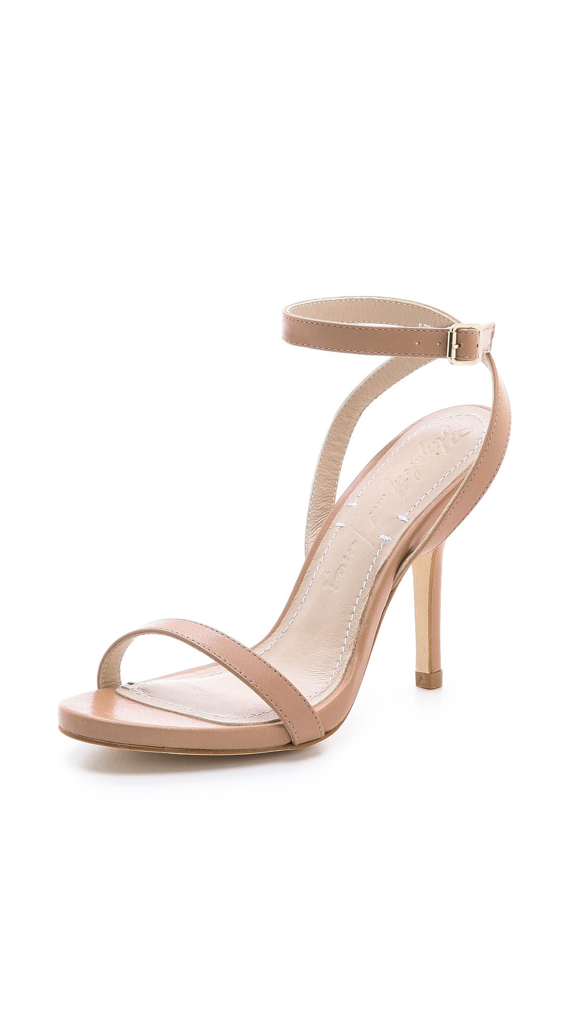 Beige Strappy Heels - Is Heel
