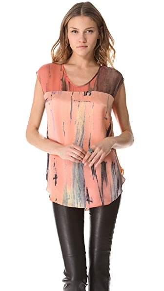 Elizabeth and James Brushstroke Kari Top
