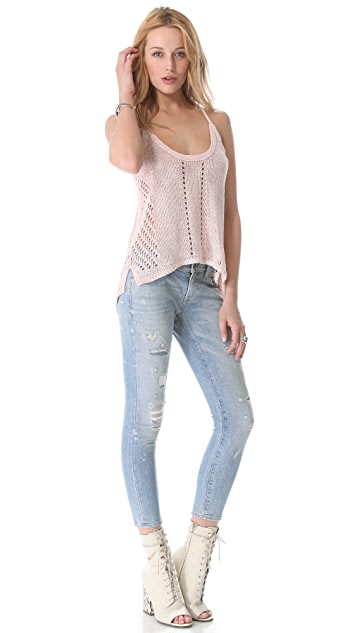 Elizabeth and James Slouchy Pointelle Tank