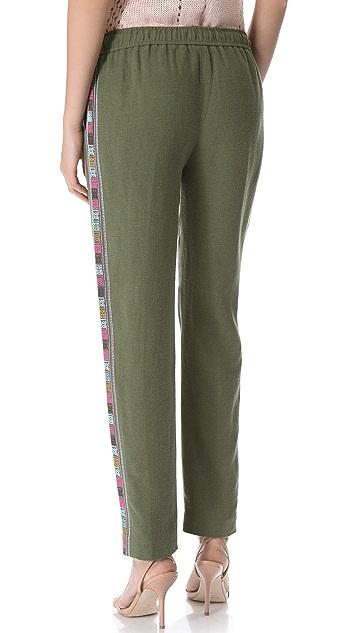 Elizabeth and James Embroidered Gessler Pants