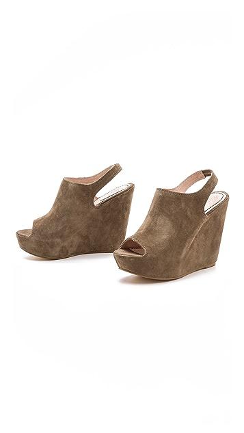 Elizabeth and James Suede Holly Platform Sandals