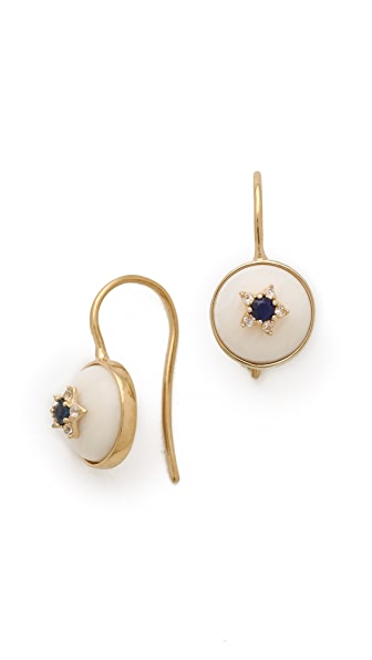 Elizabeth and James Plated Victorian Star Cabochon Earrings