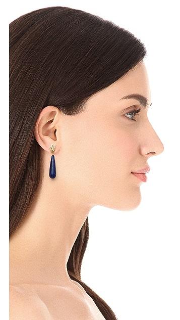 Elizabeth and James Wing Long Teardrop Earrings