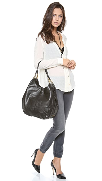 Elizabeth and James Coated Leather Shopper Tote