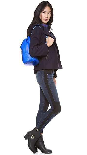 Elizabeth and James Coated Leather Sling Bag