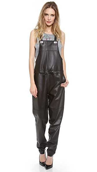 Elizabeth and James Lars Leather Overalls