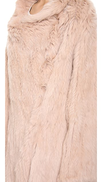 Elizabeth and James Kimono Elijah Fur Coat