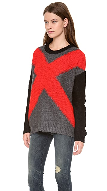 Elizabeth and James XX Intarsia Pullover