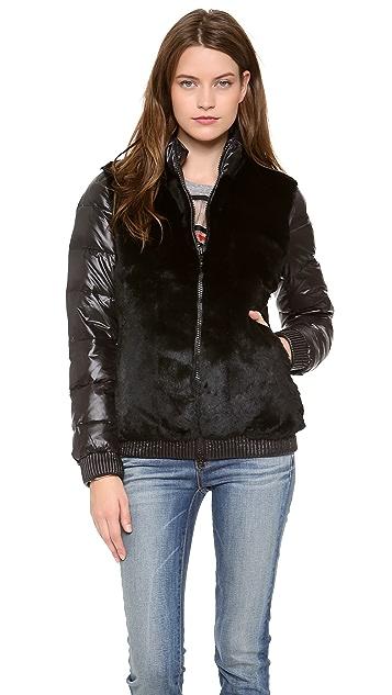 Elizabeth and James Austin Fur Puffer Coat