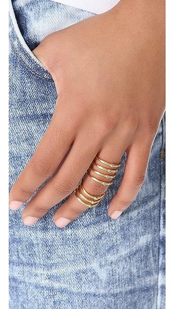 Elizabeth and James Berlin Topaz Knuckle Ring