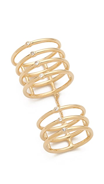 Elizabeth and James Berlin Topaz Knuckle Ring