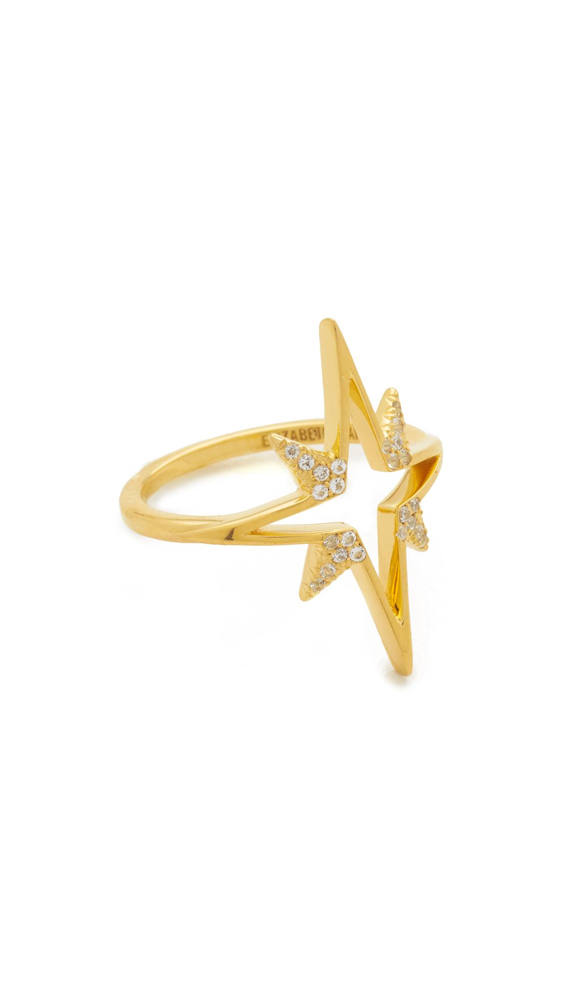 Elizabeth and James Astral Ring - Gold