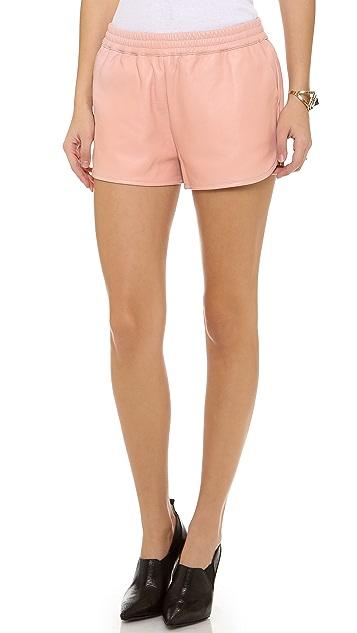 Elizabeth and James Hammond Leather Shorts