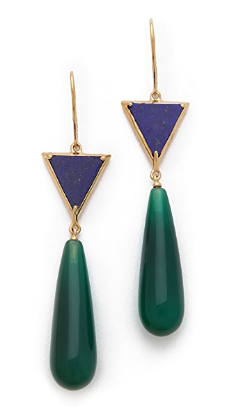 Elizabeth and James Metropolis Triangle Drop Earrings