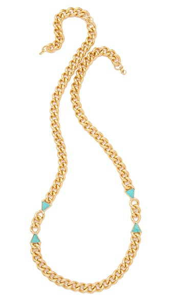 Elizabeth and James Metropolis Triangle Charm Necklace