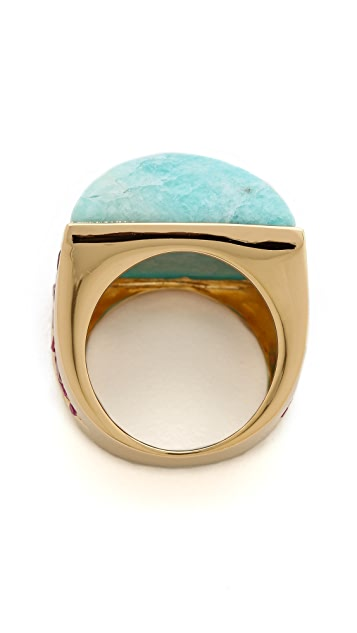 Elizabeth and James Chrysler Pave Pyramid Ring