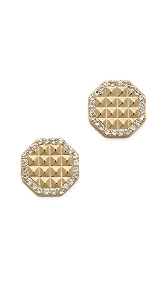Elizabeth and James Divi Pave Stud Earrings