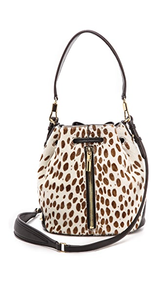 Elizabeth and James Cynnie Haircalf Mini Bucket Bag