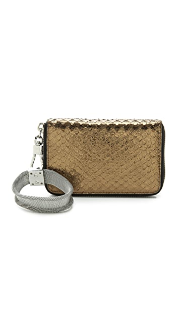 Elizabeth and James Metallic Pyramid Smart Phone Bracelet Wallet