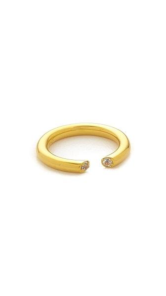 Elizabeth and James Obi Ring - Gold/White Topaz