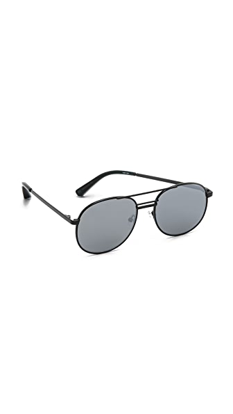 Elizabeth and James Watts Flat Lens Sunglasses - Black/Silver