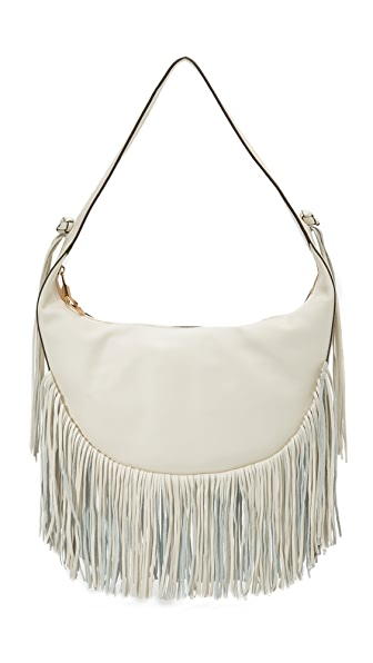 Elizabeth And James Zoe Fringe Hobo Bag - Ivory