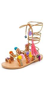 Penny Lane Lace Up Sandals                Elina Linardaki