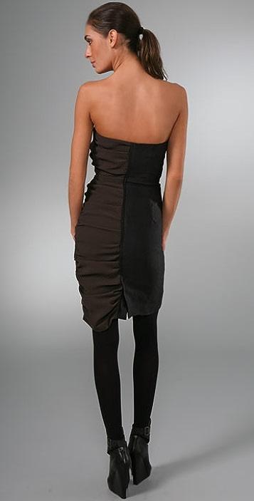 Elise Overland Bustier Tuxedo Strapless Dress