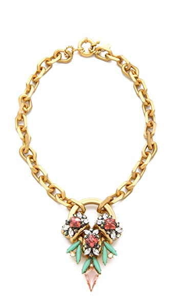 Elizabeth Cole Crystal Pendant Necklace